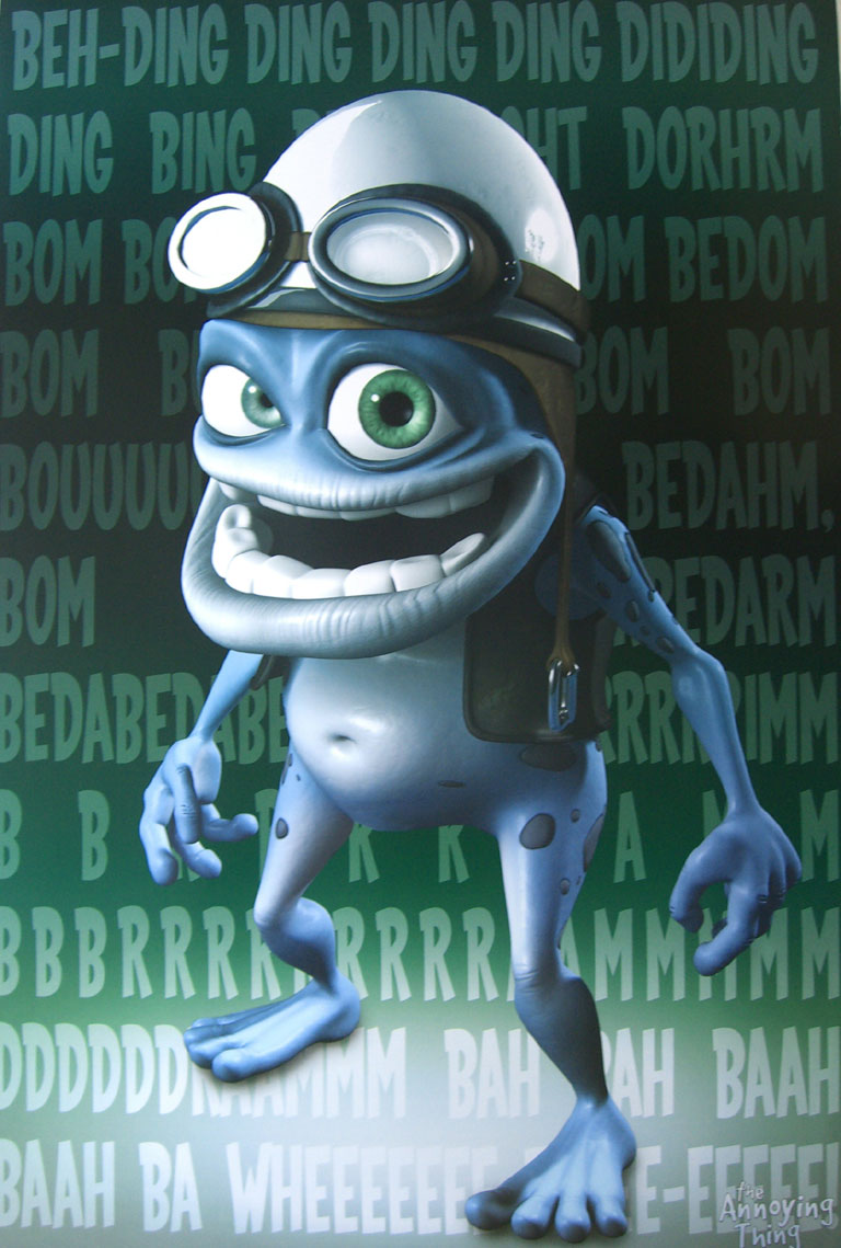 Crazy frog colour poster 1 listed 5 details crazy